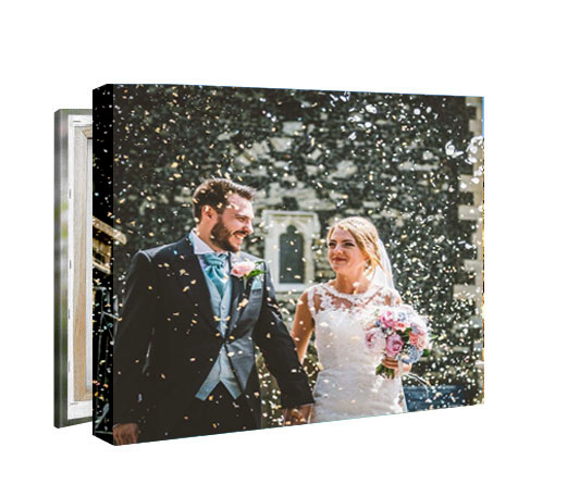 wedding photos printed on to canvas